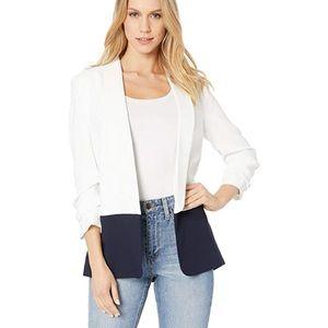 NWT JOIE Lollasa B blazer white navy size 4 $348